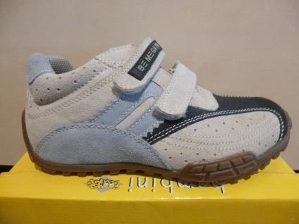 Boomers Jungen Sneaker Leder Mesh grau/blau Gummisohle NEU!