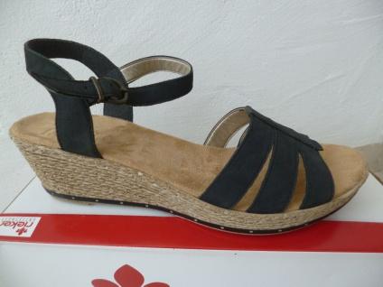 Rieker Damen Sandale Sandalette Keilabsatz schwarz Leder NEU!! NEU!! Leder Beliebte Schuhe 6d817e