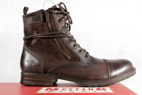 Mustang Stiefel Stiefel NEU Schnürstiefel braun gefüttert, Echtleder NEU Stiefel 2db012