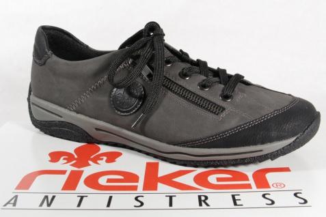 Rieker Damen Sneakers Schnürschuhe Sportschuhe Halbschuhe Sneaker grau 5224L NEU