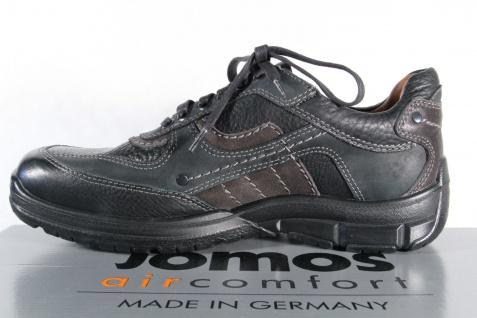 Jomos Schnürschuhe Halbschuhe Sneakers schwarz Leder NEU