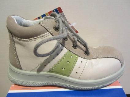 Jela LL-Stiefel beige/grün Lederfußbett Neu !!!