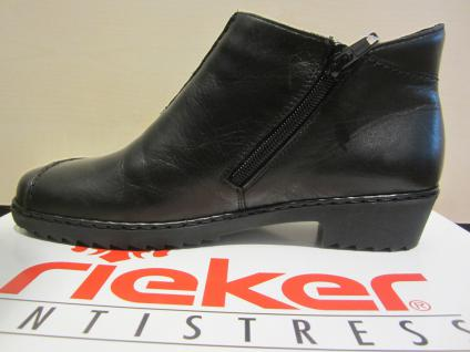 Rieker schwarz, Stiefel, Stiefel, Winterstiefel, Stiefelette, schwarz, Rieker Leder, gefüttert, NEU aafa2a