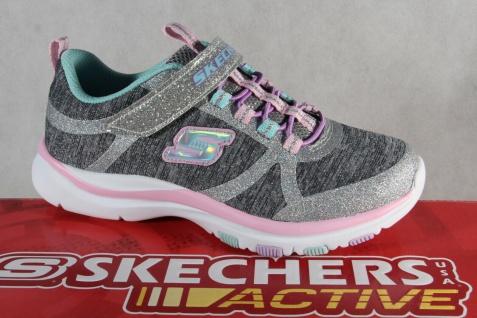Skechers Sneaker Schnürschuh Sportschuh grau/ rosa Memory Foam NEU