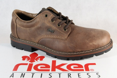 Rieker Herren Schnürschuhe, Halbschuhe Sneakers braun Leder TEX 17712 NEU! - Vorschau 1