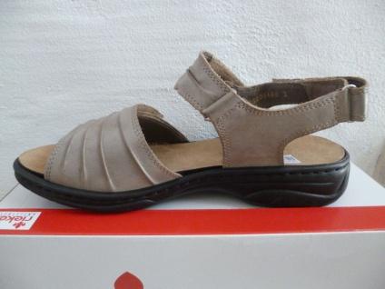 Rieker 64560 Damen Sandale Sandalette beige 64560 Rieker Leder NEU!! Beliebte Schuhe 5add19