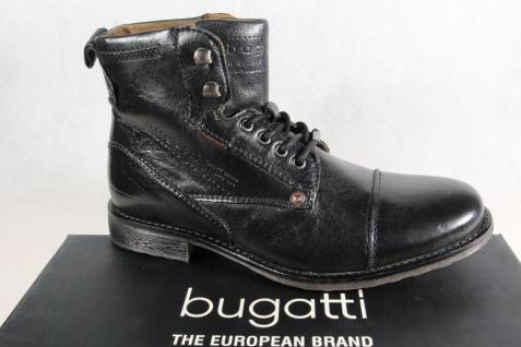 Bugatti Herren Stiefel schwarz Stiefel Schnürschuhe Schnürstiefel schwarz Stiefel Leder NEU!! e21011