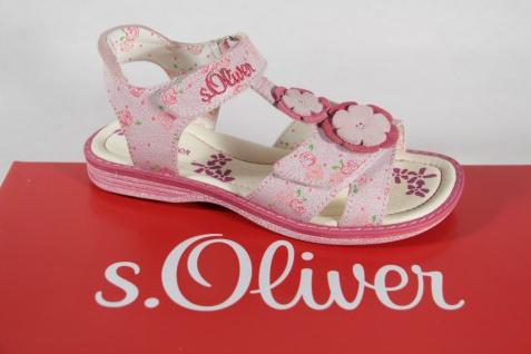 S.Oliver rose/ Mädchen Sandale rose/ S.Oliver pink, Lederinnensohle, flach NEU!! fbd39f