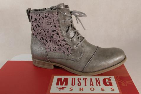 Mustang Titan Stiefel Stiefeletten Schnürstiefel Stiefel Titan Mustang NEU! b1818b