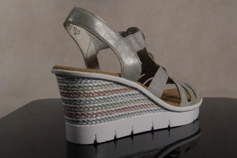 Rieker Damen weiche Sandale, Sandalen Sandaletten grau weiche Damen Innensohle, V6548 NEU!! acb7ac