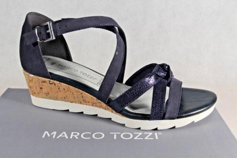 Marco Tozzi Damen Sandalen Sandaletten NEU!! blau Echtleder NEU!! Sandaletten 755129