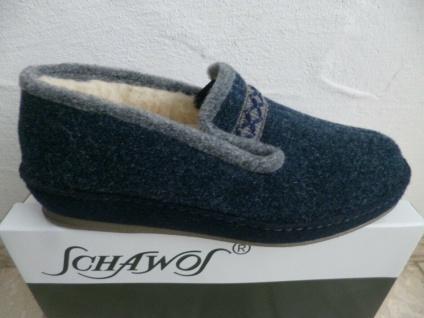 Schawos Damen Hausschuh Hausschuhe blau NEU!!