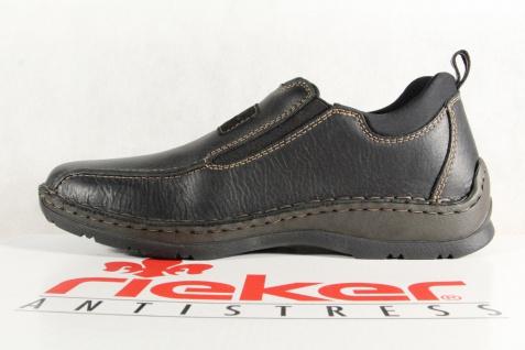 Rieker Herren Slipper Sneakers schwarz Echtleder 05363 NEU - Vorschau 3