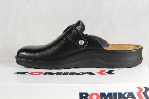 Romika Herren Clogs Sabot schwarz Pantolette Hausschuhe Leder schwarz Sabot Neu 4e3f54