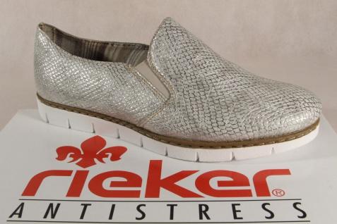 Rieker Slipper Ballerina weiß/ grau NEU mit weicher Lederinnensohle NEU grau 1600c2