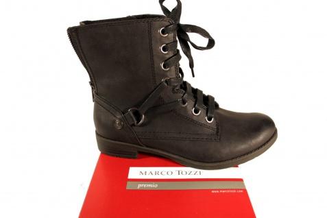 Marco Tozzi Damen Stiefel Stiefeletten NEU!! Schnürstiefel Stiefel Leder schwarz NEU!! Stiefeletten 0e0bcd