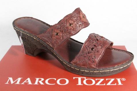 Marco Tozzi Damen Pantoletten Sandalen NEU! Echtleder braun NEU! Sandalen fd0acd