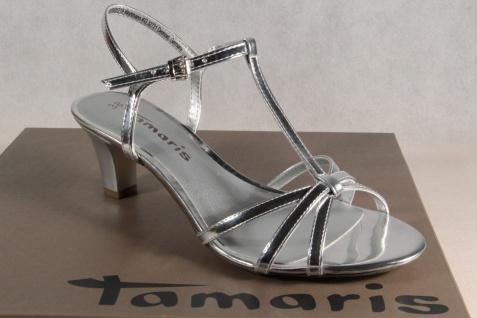 Damen Tamaris Sandale Sandalette Sandalette Sandale silber NEU! c33376