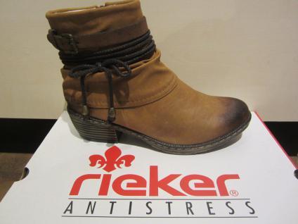 Rieker Stiefel Stiefelette Boots braun, warm gefüttert, NEU