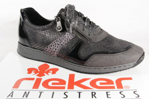 Rieker Damen Schnürschuhe, Halbschuhe, Sneakers, grau, 56001 NEU!