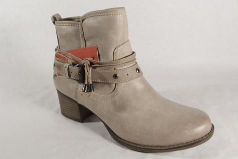 Mustang 1197 Damen Reißverschluss Stiefel Stiefeletten mit Reißverschluss Damen beige NEU 6cd4d7