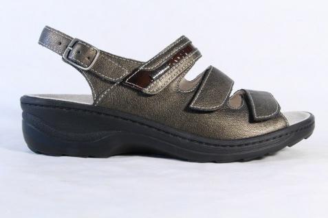 Fidelio Damen Sandale Lederfußbett bronze, Klettverschluß, Leder Lederfußbett Sandale 23443 NEU! b7c6c6