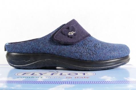 Fly blau Flot Pantoffel Pantoletten Hausschuhe blau Fly mit KV Neu! 66f667