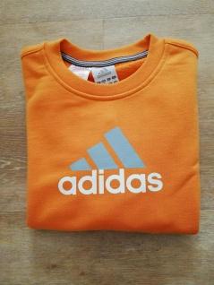 Adidas Jungen Mädchen Sweatshirt Sweater Pullover orange NEU