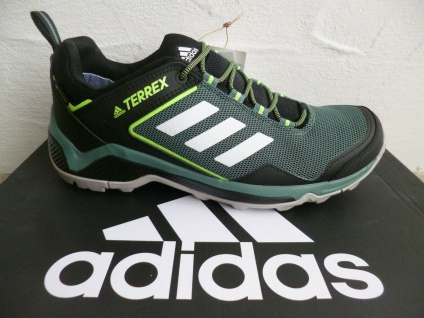 Adidas Terrex Sportschuhe Sneakers Schnürschuhe wasserdicht schwarz/grün NEU!