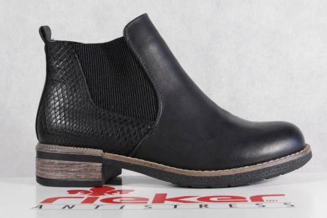 Rieker Damen Reißverschluß Stiefel Stiefelette Stiefel schwarz Reißverschluß Damen NEU! 025d38