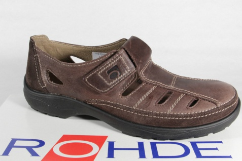 Rohde Herren Slipper braun Halbschuhe Sneaker braun Slipper Leder NEU! 054e6d
