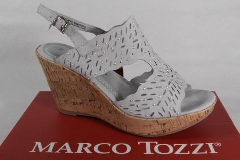 Marco Tozzi grau Damen Sandalen Sandaletten Echtleder grau Tozzi NEU!! 3421b1