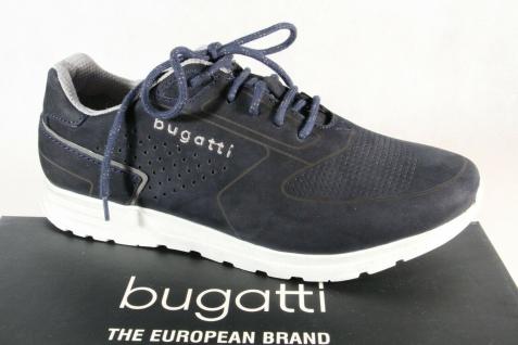 Bugatti Herren Schnürschuh Schnürschuhe Halbschuhe Sneaker dunkelblau 70202 NEU!