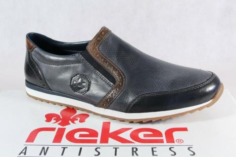 Rieker Slipper Halbschuhe Schnürschuhe Sneaker blau 19360 NEU!!