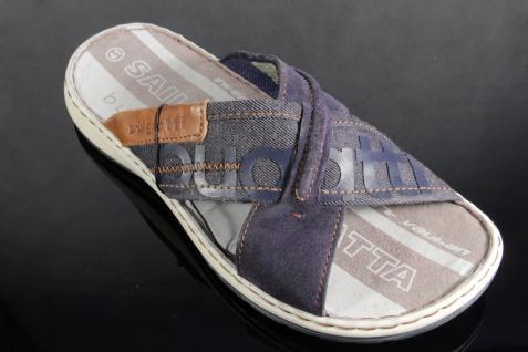 Bugatti Herren Pantoletten Pantoletten Herren Clogs Pantoffel Pantolette blau NEU! f2bbe2