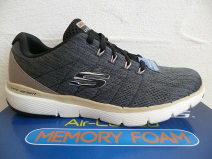 Skechers Herren Schnürschuhe Sneakers Sneaker Sportschuhe grau schwarz 52957 NEU