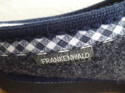 Frankenwald Damen Pantoffel Hausschuhe, Filz blau/grau für lose Einlagen, Filz Hausschuhe, NEU!! 2a340c
