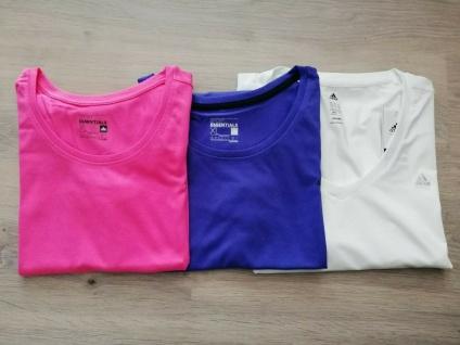 Adidas T-Shirts Tops Set Damen pink weiß lila Top Frauen Sport NEU