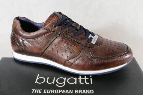 Bugatti Herren Sneaker Schnürschuh Schnürschuhe Halbschuhe Slipper braun NEU!