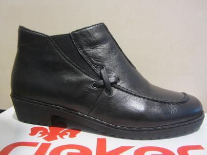 Rieker Stiefel, Boots, Winterstiefel, Stiefelette, schwarz, Leder, gefüttert, NEU