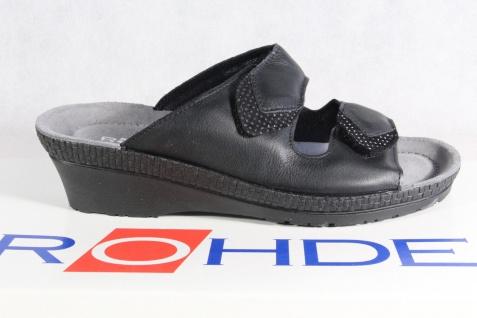 Rohde Pantolette Weite Pantoletten Hausschuhe Pantoffel schwarz Weite Pantolette G 1477 NEU! 6d91d0