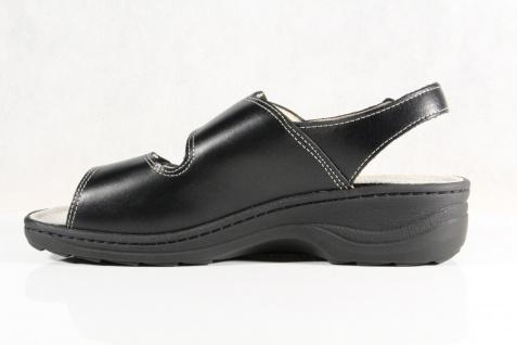 Fidelio Lederfußbett Damen Sandale Sandalette schwarz Leder Lederfußbett Fidelio NEU! Beliebte Schuhe 3bff11