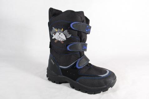 Capt'n Sharky Tex Stiefel Boots Winterstiefel schwarz/blau 470539 NEU