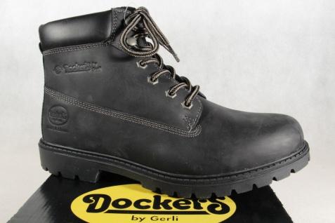 Dockers schwarz Herren Stiefel Boots Winterstiefel schwarz Dockers Echtleder NEU Beliebte Schuhe 5c03be