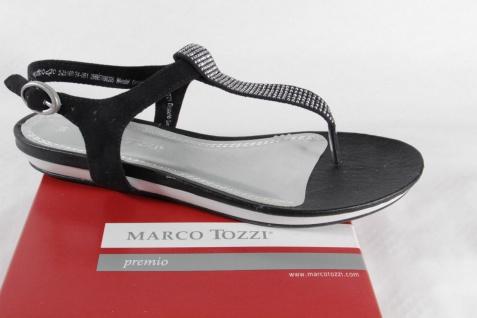 Marco Tozzi Zehenstegsandalen Sandalen schwarz/silber Sandaletten schwarz/silber Sandalen NEU!! 4d490d