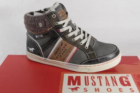 Mustang Stiefel Stiefelette Stiefeletten Winterstiefel Boots grau NEU