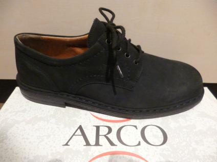 Arco Herren 5 Schnürschuh Halbschuh Sneaker blau Leder Gr.9, 5 Herren / 44 NEU 41d565