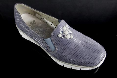 Rieker Damen Slipper Ballerina Halbschuhe Pumps Beliebte blau 537Y5 NEU! Beliebte Pumps Schuhe a3e487