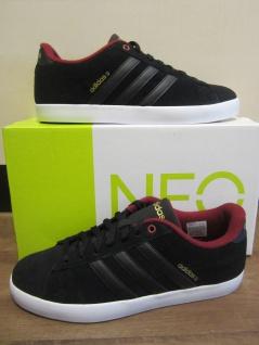 Adidas Herren Schnürschuh Sneakers DERBY schwarz/bordo Leder NEU - Vorschau 2