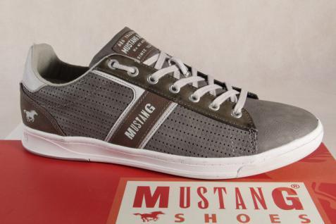 Mustang Herren grau/ Schnürschuh Sneakers Halbschuh, 4098 grau/ Herren braun Gummisohle NEU! 362e53